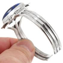 High Grade Lapis Gemstone Sterling Silver Navajo Cuff Bracelet 40596