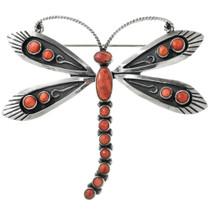 Zuni Spiny Oyster Dragonfly Brooch 31351