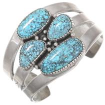 Vintage Navajo Spiderweb Turquoise Cuff Bracelet 40600