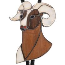 Zuni Bighorn Sheep Bolo Tie 40608