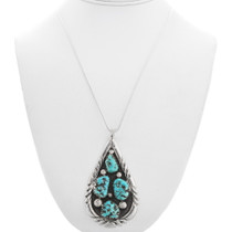 Sterling Silver Turquoise Pendant 40614
