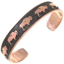 Native American Copper Buffalo Bracelet 40615