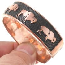 Navajo Buffalo Symbol Copper Bracelet 40615