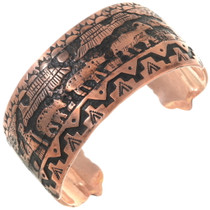 Native American Storyteller Copper Bracelet 40617