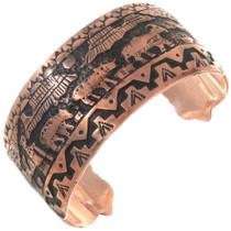 Native American Storyteller Copper Bracelet 40617