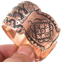 Navajo Storyteller Design Cuff Bracelet 40617