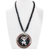 Gemstone Inlay Kachina Design Pendant 40621