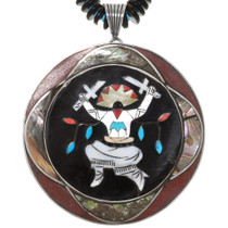 Old Pawn Apache Crown Dancer Pendant Necklace 40621