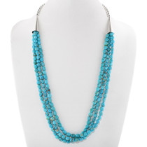 Natural Blue Turquoise Necklace 40625