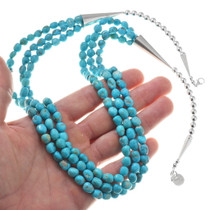 Natural Sleeping Beauty Turquoise Bead Necklace 40625