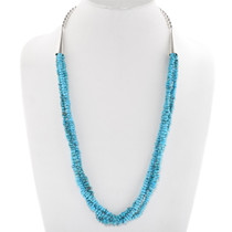 Natural Turquoise Three Strand Necklace 40626