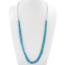 Navajo Blue Turquoise Three Strand Necklace 40628