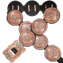 Turquoise Copper Concho Belt 30426