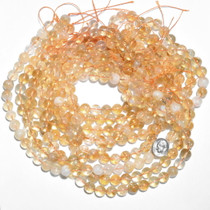 10mm Round Citrine Quartz Bead Strand 37174