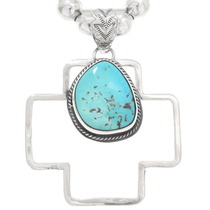 Navajo Turquoise Sterling Silver Pendant 40653