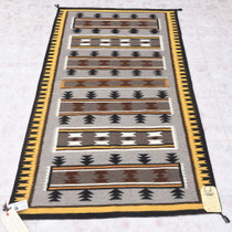 Navajo Two Grey Hills Wool Rug 40660