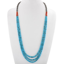 Vintage Turquoise Santo Domingo Heishi Necklace 40661