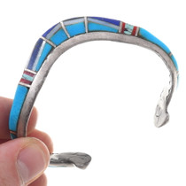 Curved Native American Turquoise Cuff Bracelet 40663