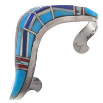 Vintage Zuni Turquoise Lapis Inlay Bracelet 40663