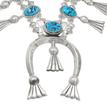 Sterling Silver Turquoise Native American Necklace 40669