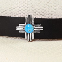 Native American Zia Symbol Turquoise Hatband 40670