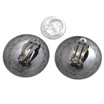 Sterling Silver Navajo Clip On Earrings 40673