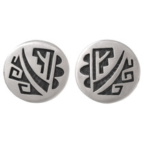 Vintage Sterling Silver Hopi Earrings 40675