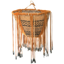Authentic Native American Made Apache Basket 40685