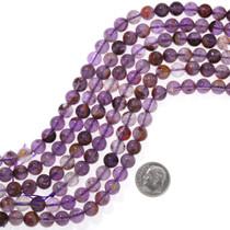 Amethyst Super 7 Beads 8mm Round 37180