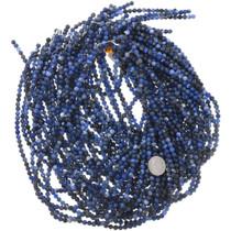 Round Deep Blue Gemstone Bead Strand 37181