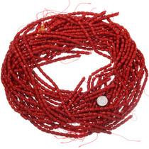 Bamboo Coral Barrel Beads Long Strand 37185