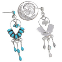 Sleeping Beauty Turquoise Silver Dangle Earrings 40692