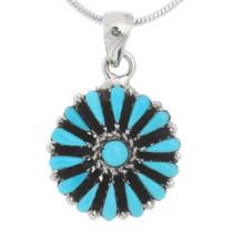 Petit Point Turquoise Pendant Earrings Set 40693
