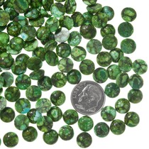 Round Green Turquoise Cabochons 37189