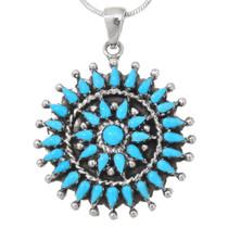Genuine Sleeping Beauty Turquoise Pendant 40695