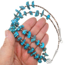 Native American Made Ithaca Peak Turquoise Bead Necklace 40710