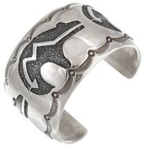 Vintage Sterling Silver Heartline Bear Bracelet 40719