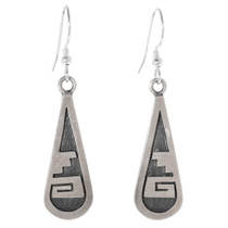 Vintage Sterling Silver Hopi Earrings 40672