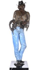 Bronze Cowgirl Sculpture 40729