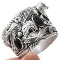 Eagle Wolf Coyote Navajo Silver Animal Bracelet 40736