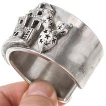 Vintage Canyon de Chelly Pueblo Sterling Silver Cuff Bracelet 40743