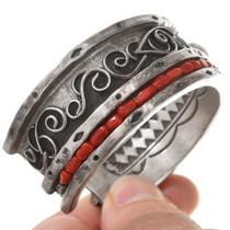 Coral Nuggets Sugilite Native American Bracelet 40744