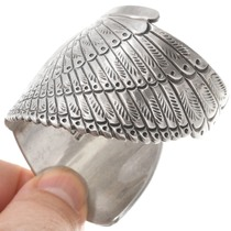 Vintage Navajo Silver Eagle Cuff Bracelet 40748