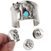 3 Piece Sterling Silver Wolf Jewelry Set 40750