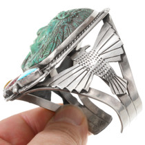 Carved Indian Chief Cuff Bracelet 40751