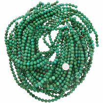 Bright Green Turquoise Bead Strand Jewelry Making Supplies 37207
