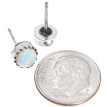 Sterling Silver Opal Post Earrings 40759