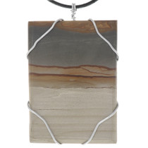 Large Picture Jasper Wire Wrapped Pendant 40763