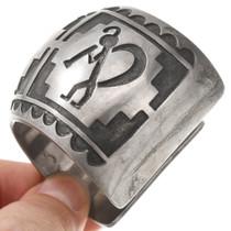 Vintage Silver Overlay Kokopelli Bracelet 40764