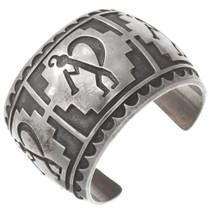 Navajo Sterling Silver Kokopelli Cuff Bracelet 40764